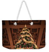 A Christmas Tree At Union Station Weekender Tote Bag