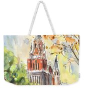 A Church In Our Street In Budapest Weekender Tote Bag