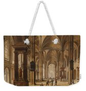 A Church Interior With Elegant People Weekender Tote Bag