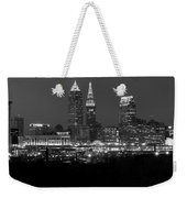 A Cleveland Black And White Night Weekender Tote Bag