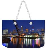 A Cleveland Ohio Evening On The River Weekender Tote Bag