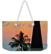 A Clock Tower At Sunset On Maui, Hawaii Weekender Tote Bag