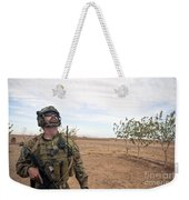 A Coalition Force Member Looks For Air Weekender Tote Bag