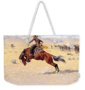 A Cold Morning On The Range  Weekender Tote Bag