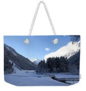 A Cold Winter Day Weekender Tote Bag