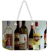 A Collection Of Wine Bottles Weekender Tote Bag