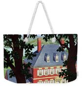 A Colonial Manor House Weekender Tote Bag