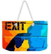A Colorful Exit  Weekender Tote Bag