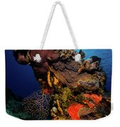 A Colorful Reef Scene With Sunburst Weekender Tote Bag
