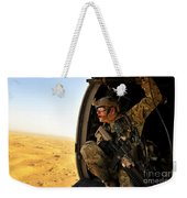 A Combat Rescue Officer Conducts Weekender Tote Bag