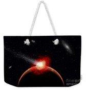 A Comet Hitting An Alien Planet Weekender Tote Bag