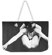 A Contortionist On A Pedestal Weekender Tote Bag