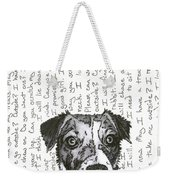 A Conversation With A Jack Russell Terrier Weekender Tote Bag