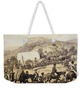 A Convoy Of Wagons Weekender Tote Bag