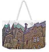 A Corner Of Parliament Building In Ottawa-on Weekender Tote Bag
