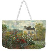 A Corner Of The Garden With Dahlias Weekender Tote Bag
