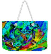 A Cosmic Dragonfly On A Psychedelic Rose Weekender Tote Bag
