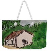 A Cottage Next To The Pathway Weekender Tote Bag