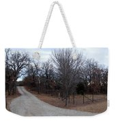 A Country Driveway Near The Brazos River Weekender Tote Bag