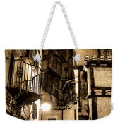 A Couple In A Little Restaurant In The Ancient City Of Albarracin Weekender Tote Bag