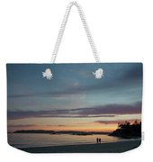A Couple Walk Along The Shore Weekender Tote Bag