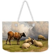 A Cow And Five Sheep Weekender Tote Bag