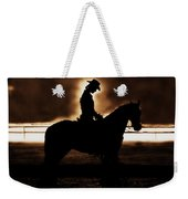 A Cowgirls Prayer Evening Ride Weekender Tote Bag