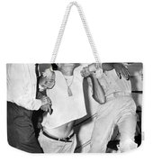 A Cuban Refugee Collapses Weekender Tote Bag