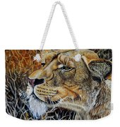 A Curious Lioness Weekender Tote Bag
