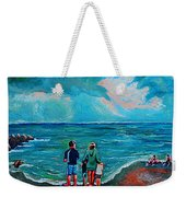 A Day On New Jersey Beach Weekender Tote Bag