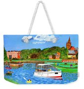 A Day On The River In Exeter Weekender Tote Bag