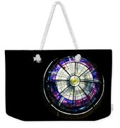A Dazzling Stained Glass Gem Emerging From The Darkness Weekender Tote Bag