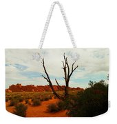 A Dead Tree Foreground A Maze Of Rocks Weekender Tote Bag
