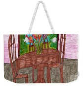 The Leaning Table Weekender Tote Bag