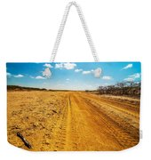 A Dirt Road In The Desert Weekender Tote Bag