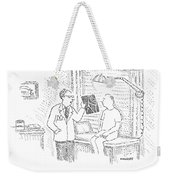 A Doctor Shows A Patient An X-ray Weekender Tote Bag