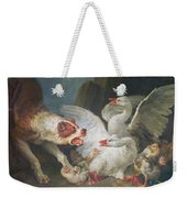 A Dog Attacking Geese, 1769 Oil On Canvas Weekender Tote Bag
