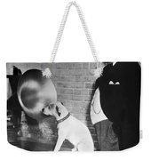 A Dog Listens To Gramaphone Weekender Tote Bag