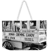 A Dollar A Stick Roman Chewing Candy In Bw Weekender Tote Bag