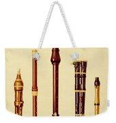 A Double Flageolet, A German Flute Weekender Tote Bag