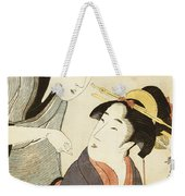 A Double Half Length Portrait Of A Beauty And Her Admirer  Weekender Tote Bag