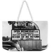 A Drive-in Theater Marquee Weekender Tote Bag