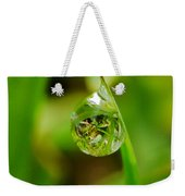 A Drop Of Water For Every Blade Of Grass Weekender Tote Bag