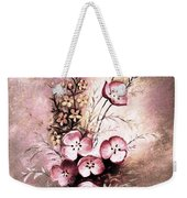A Dusty Rose Bouquet Weekender Tote Bag