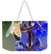 A European Honey Bee And It's Flowers Weekender Tote Bag