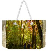 A Fall Walk With My Best Friend Weekender Tote Bag