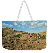 A Family Enjoys The Views Weekender Tote Bag