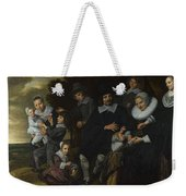 A Family Group In A Landscape Weekender Tote Bag