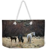A Family Of Three - Wild Horses - Green Mountain - Wyoming Weekender Tote Bag