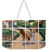 A Farm Scene On Plaza Tiles Weekender Tote Bag